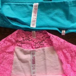PINK Victoria's Secret Intimates & Sleepwear - Victoria's Secret Cheeksters Lacey Hipster 2 Pack